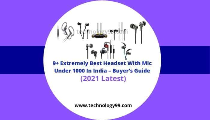best headset with mic under 1000